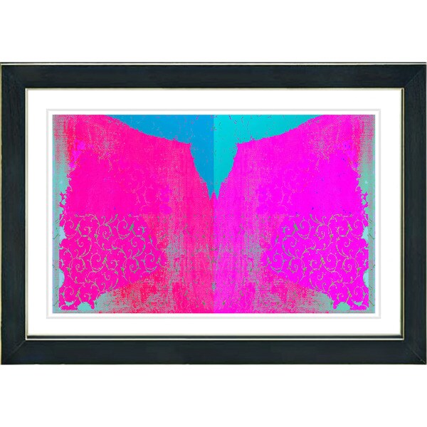 Studio Works Modern 'Bird Fly - Pink' Framed Print