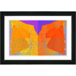 Studio Works Modern 'Bird Fly - Orange' Framed Print