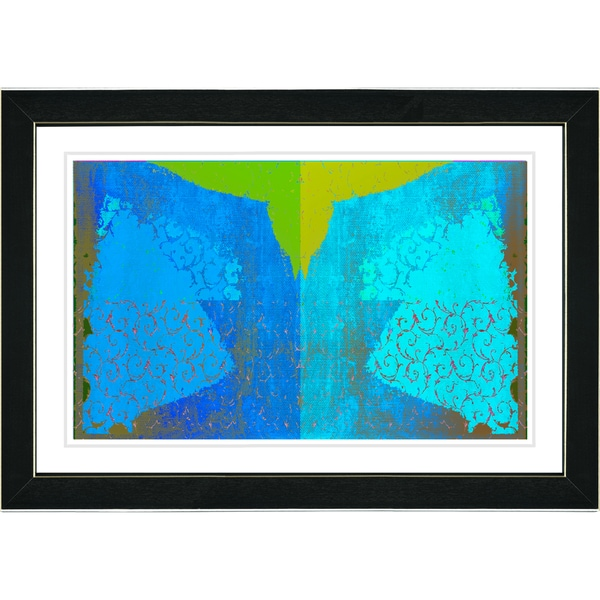 Studio Works Modern 'Bird Fly - Turquoise' Framed Print
