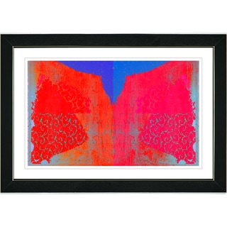 Studio Works Modern 'Bird Fly - Red' Framed Print