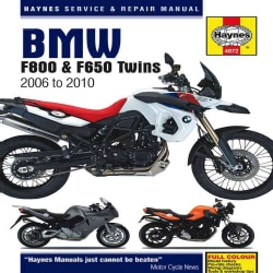 Haynes BMW F800 & F650 2006 to 2010 Service and Repair Manual (Hardcover)