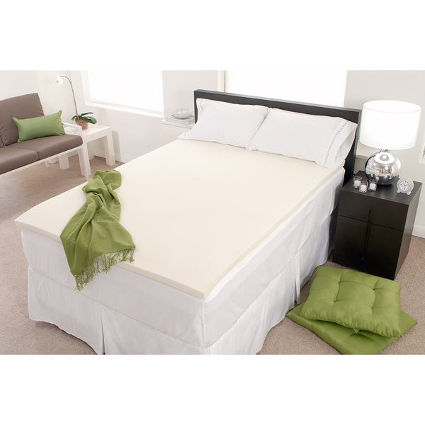 Dream Form Fresh 4-inch Memory Foam Mattress Topper