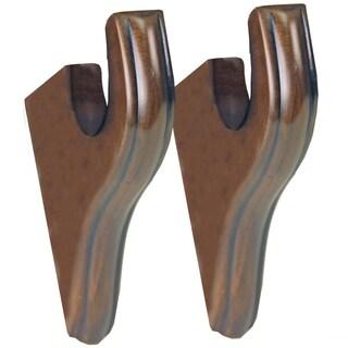 Menagerie Simplicity 2-inch Black Walnut Drapery Brackets