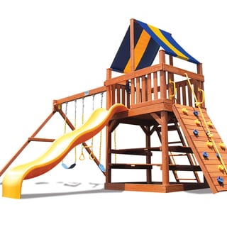 Superior Play Systems Original Fort Wooden Swing Set