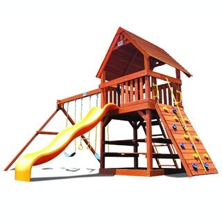 Superior Play Systems Original Fort Wood Roof Swing Set