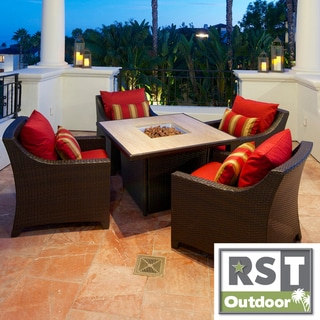 RST Cantina 5-Piece Fire Table Patio Seating Set