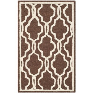 Safavieh Handmade Cambridge Moroccan Dark Brown Wool Oriental Rug (3' x 5')