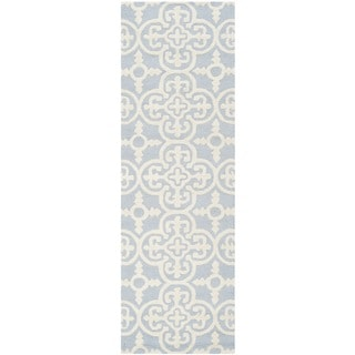 "Safavieh Handmade Cambridge Moroccan Light Blue Wool Oriental Rug (2'6"" x 12')"