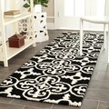 "Safavieh Handmade Cambridge Moroccan Black Wool Rug with Canvas Backing (2'6"" x 8')"