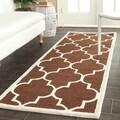 Safavieh Handmade Cambridge Moroccan Dark Brown/Ivory Wool Rug (2'6