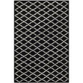 Handmade Moroccan Black Wool Rug (5&#39; x 8&#39;)