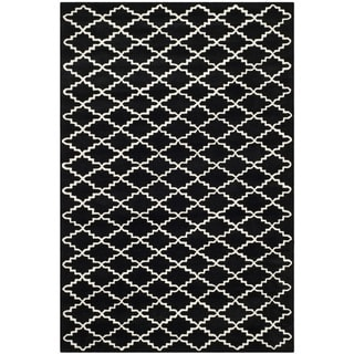"Contemporary Handmade Moroccan Black Wool Rug (8'9"" x 12')"