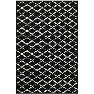 "Safavieh Contemporary Handmade Moroccan Black Wool Rug (8'9"" x 12')"