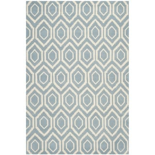 "Contemporary Handmade Moroccan Blue Wool Rug (8'9"" x 12')"