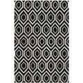 Contemporary Handmade Moroccan Black Wool Rug (8' x 10')