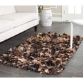 Safavieh Hand-woven Chic Brown Shag Rug (2'6 x 4')