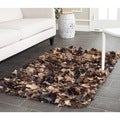 Safavieh Hand-woven Chic Brown Shag Rug (3' x 5')
