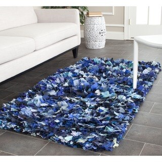 Safavieh Hand-woven Chic Blue Shag Rug (3' x 5')
