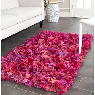 Safavieh Hand-woven Chic Fuchsia/ Purple Shag Rug (3' x 5')