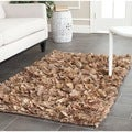 Safavieh Hand-woven Chic Natural Shag Rug (2'6 x 4')