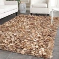 Safavieh Hand-woven Chic Natural Shag Rug (6' x 9')