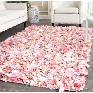 Safavieh Hand-woven Chic Pink Shag Rug (4' x 6')