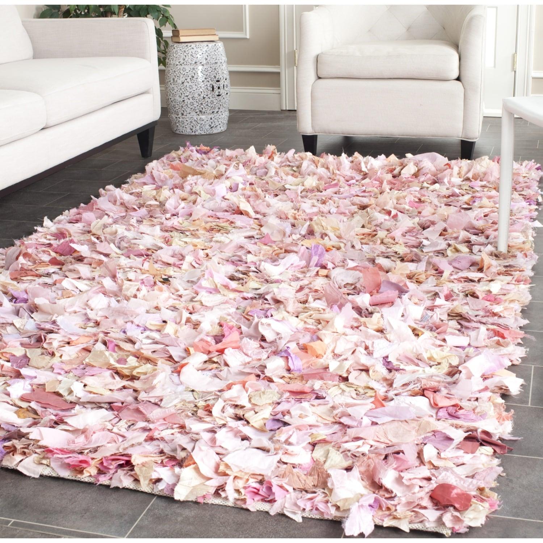 Safavieh Hand-woven Chic Pink Shag Rug (5' X 8