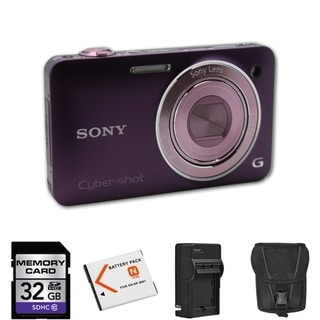 Sony Cyber-shot DSC-WX5 Violet Digital Camera 32GB Bundle