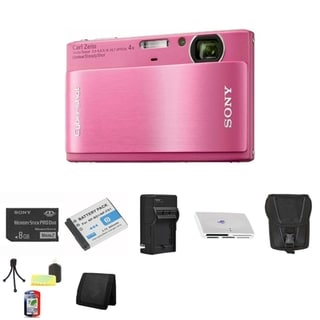 Sony DSC-TX1 Cybershot 10.2MP Pink Digital Camera 8GB Bundle