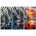 'Zebras Four' 3-piece Metal Wall Art Set