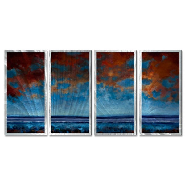 Keith Burnett 'Open Water' 4-piece Metal Wall Sculpture Set