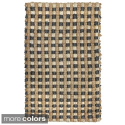 Justin Tricolor Cable Jute Rug (8'x10')