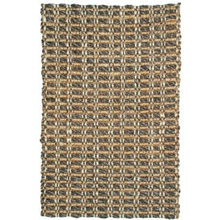 Handmade Timber Woven Natural Jute Rug (8' x 10')