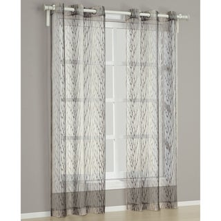 Barcelona Brown 84-inch Curtain Panel Pair