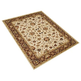 Alliyah Handmade Vanilla New Zealand Blend Wool Rug (6' x 9')
