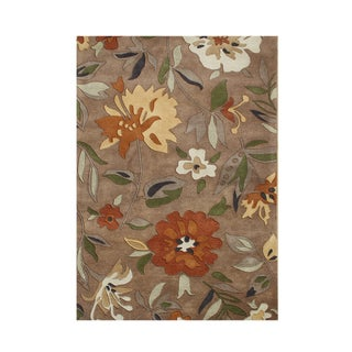 Hand-tufted Made Rust Blend Wool Area Rug (9' x 12')