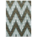 Handmade Ikat Pattern Forest Green Blend Wool Area Rug (9' x 12')