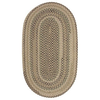Braided Cape Cod Dune Wool Blend Oval Rug (3&#39;6 x 5&#39;6)