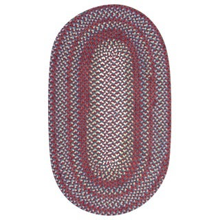 Braided Cape Cod Americana Wool Blend Oval Rug (3&#39; x 5&#39;)
