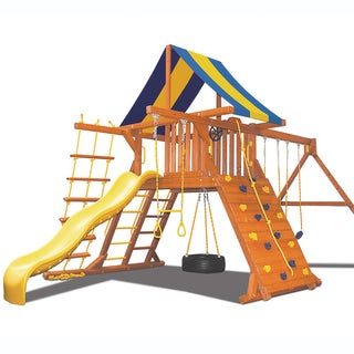 Superior Play Systems Original Playcenter Wooden Swing Set