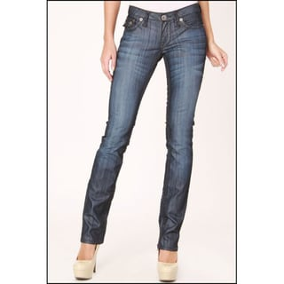 Laguna Beach Jean Co. Women's 'Hermosa' Light Indigo Raw Straight Leg Jeans