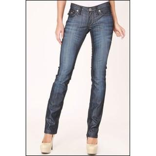 Laguna Beach Jean Co. Women's 'Hermosa' Light Indigo Raw Straight Leg Jeans