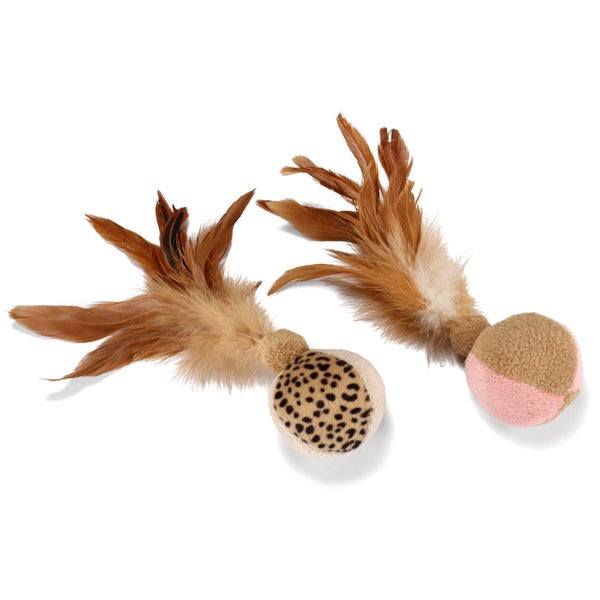 SmartyKat FlutterBalls Feathery Ball Toy - 2/Pack