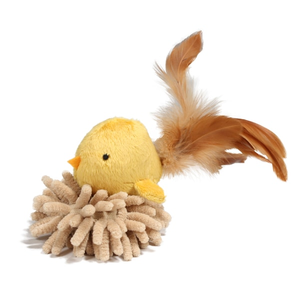 SmartyKat FlutterNest Electronic Bird Sound Toy