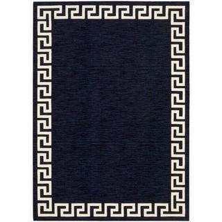 Barclay Butera by Nourison Kaleidoscope Greek Border Lagoon Wool Rug (7'9 x 10'10)