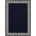 Barclay Butera Kaleidoscope Greek Border Lagoon Wool Rug (5'3 x 7'5)