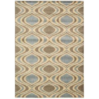 Mondrian Abstract Blue Rug (7'9 x 10'10)