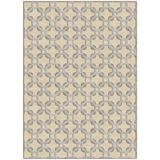 'Diamond Penelope' Cream Geometric Rug (2'2 x 4)