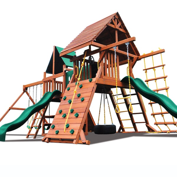 Superior Play Systems Original Double Zinger Wooden Swing Set