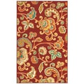 Al Fresco 7Feet 10 Inch Red Paisley Rug